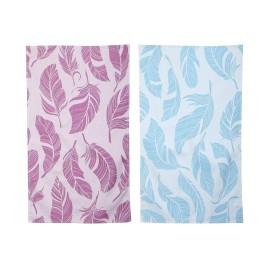 2 stk. Feathers Viskestykker (blå & pink)